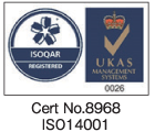 ISO14001   certified number 8968
